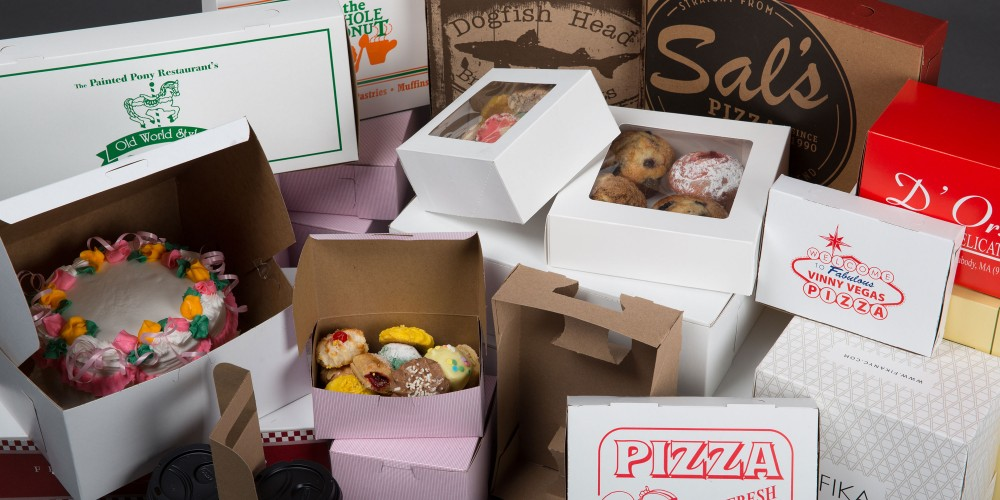 Food and beverage paperboard packaging group shot